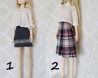 BJD, MSD, Doll outfit, Doll clothes, Doll dress. Doll top and skirt, MSD Top and skirt.