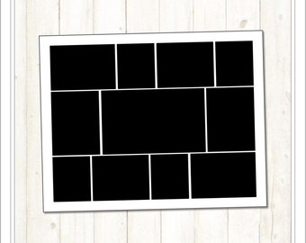 Sale 11x14 Storyboard Template (SB215) INSTANT DOWNLOAD