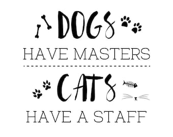Dogs & Cats Wall Decal