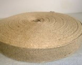 "1"" Inch Natural Jute Webbing 10 Yard roll"