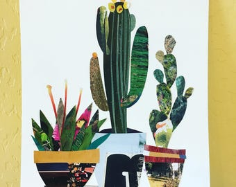 Original Multiple Cacti Collage