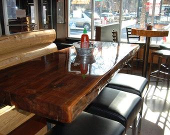 CUSTOM Live Edge Restaurant Style Dining Table Top
