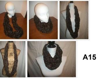 Arm Knit Infinity Scarfs (A15-17)