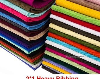 "2*1 Thick Heavy Ribbing- 3.9"" Length 10 x 120cm Ribbing and Binding Knit Fabric For Winter Neckline, Cuffs, Hems"