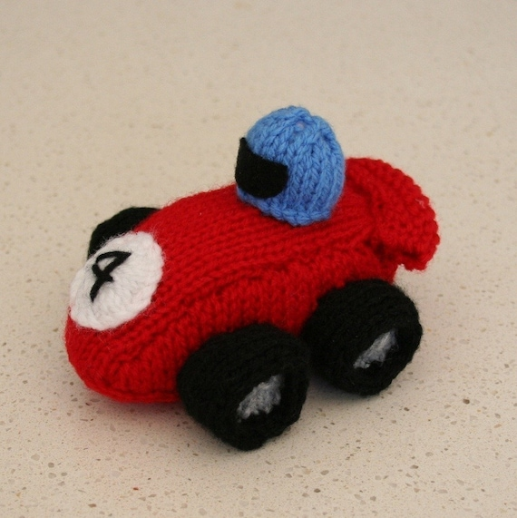 Race Car INSTANT DOWNLOAD PDF Knitting Pattern