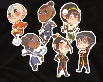 Avatar the Last Airbender Chibi Sticker Set