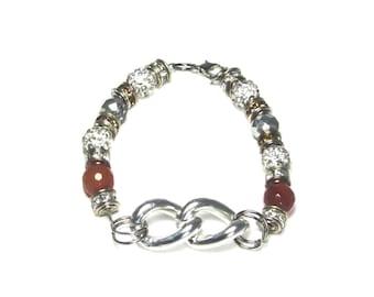 Agate & Chain Bracelet