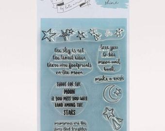 Mama Makes Stamps - Star Shine - 10 Stamps