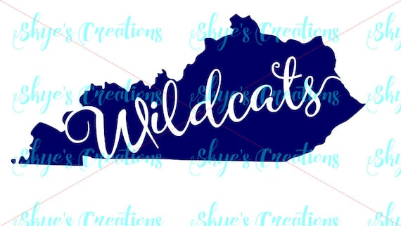Kentucky Wildcats Svg Ky State Outline