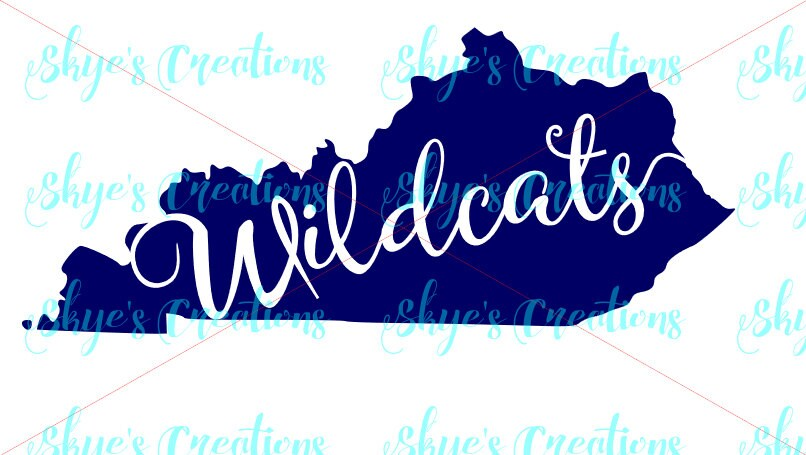 Kentucky Wildcats svg, ky state outline from skyenelsoncreations on ...