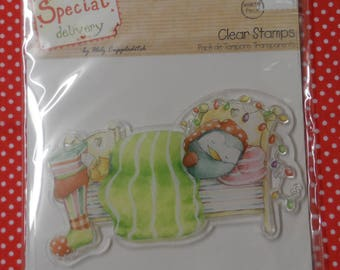 Special Delivery Clear Stamp Christmas Dreams Sleeping Penguin Design Approx. 60mm x 100mm