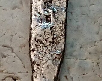 Molten silver chain pendant