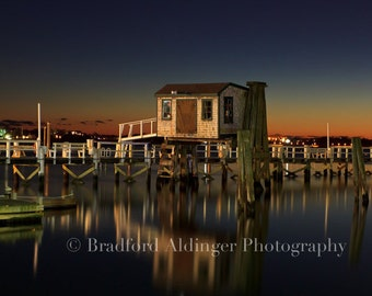 Colorful Winter Sunset in Newport, RI - Photograph