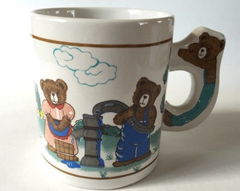 Three Bears Ceramic Mug - mughunters006