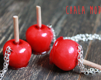 Fimo toffee Apple necklace