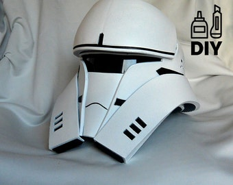 DIY Rogue One: A Star Wars Story - Tanktrooper helmet templates for EVA foam