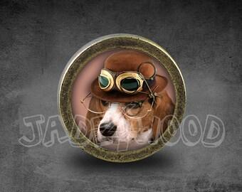 Steampunk Dog Cabinet Dresser Knobs Pull / Dresser Pull / Cabinet Knobs /  Furniture Knobs