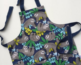 Kid's Apron Sloth Child Apron size 4-6