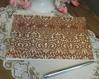 Guest Book Album - Flor de lis Ivory