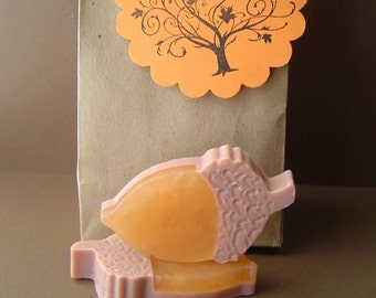 Autumn Acorn Gift Set - Goat Milk and Glycerin Soap - Shaped soap - Christmas gift - wedding favor - Bridal shower favor - for her - mom