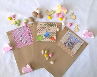 """3 Easter """"our little friends"""" gift bags"""