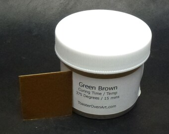 Green Brown Powder Paint