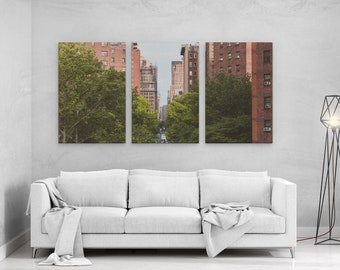 Street of Manhattan New York Color - panels art canvas print wall home decor interior design