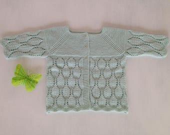 Openwork newborn Cardigan/jacket