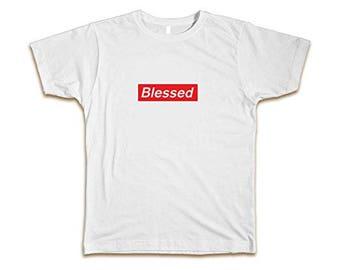 c2798639b14 BLESSED Supreme Custom Men s Fashion Tee T-Shirt Size S-3XL White New