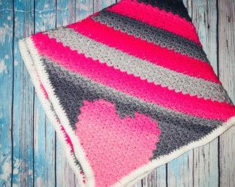 Heart Baby Blanket