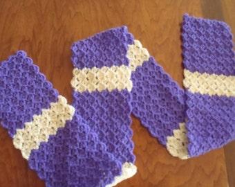 Hand Made Crochet Striped Scarf