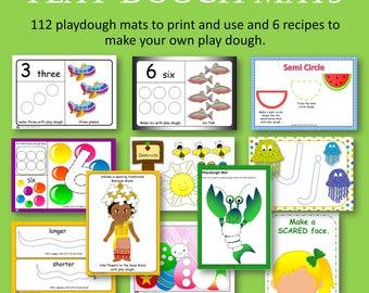 Play Dough Mats for Home or Preschool
