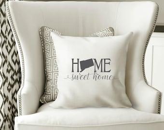 Connecticut Pillow Cover, Connecticut State Decor, Connecticut, Housewarming Gift, Throw Pillow, Home Pillow, State Pillow, Pillow Cover