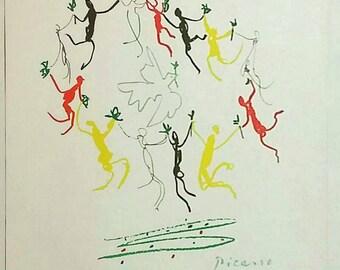 After Pablo Picasso Ronde de la Jeunesse 1961 Original Serigraph Limited Edition OOP