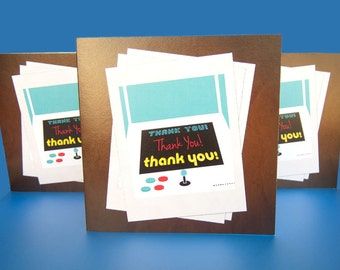 Arcade Thank You Card Turquoise - Instant Download