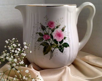 Vintage and Beautiful Hall Roses Superior Quality Kitchenware Pitcher