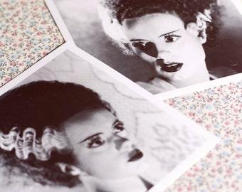 Frankenstein.Bride of Frankenstein Photographs-set of 2.Classic horror monsters.Elsa Lanchester.Horror Print.Bride of Frankenstein.Halloween