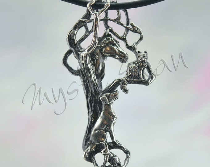 Animal Friends Pendant in Sterling Silver, Ten Dollars of Each Sale Benefits the Humane Society