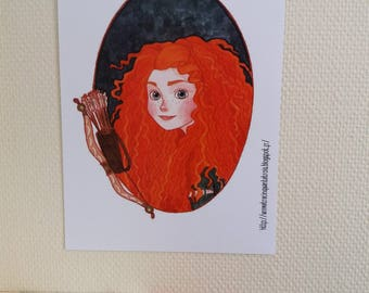 Merida - Brave / Rebelle - Print / Impression A4