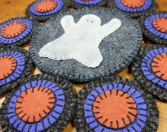 Ghostly Penny Folk Art Penny Rug by Just Pennies by Linda - Pattern