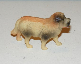 Vintage Celluloid Dog Figure Toy made in USA