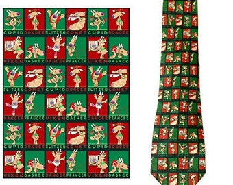 Stonehouse Collection Men's Christmas Tie - Funny Christmas Necktie - 26031