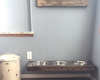 Floating Dog Bowls. Raised Dog Bowls. Wall mounted. Floating Dog Dish