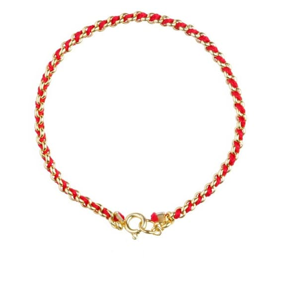 color tattoo necklace choker string wishes buddha bppccr for item gift women red head rope gold wholesale