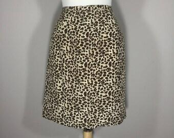 Gantos animal print skirt  90s silk skirt cheetah  print silk skirt  Tribal print womens skirt lepoard skirt