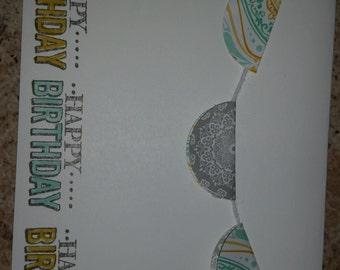 Circle Banner Birthday Card