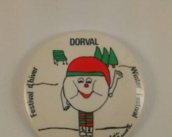 Vintage Dorval pinback button