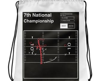 Oklahoma Football Drawstring Bag: 7th National Championship (2001)