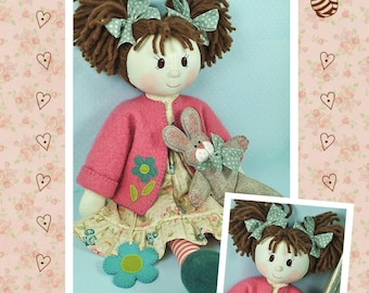 PDF - Millie & Rose Rag Doll Sewing Pattern - Instant download