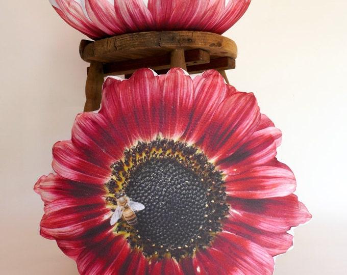 2-sided Sunflower/Bee pillow